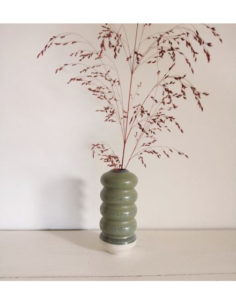 STUDIO ARHOJ vase Hana petit modèle Kiku céramique danoise coloris vert mousse