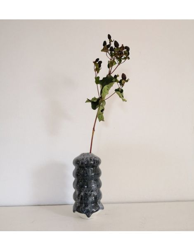 STUDIO ARHOJ vase Hana petit modèle Kiku céramique danoise coloris lave noire