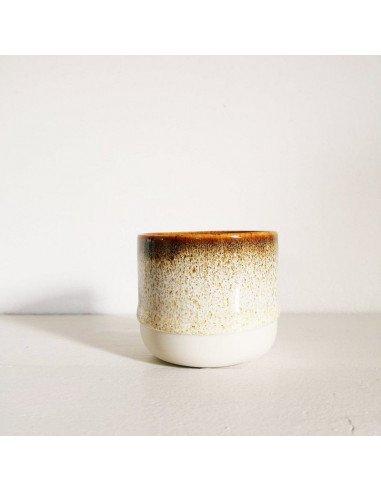 STUDIO ARHOJ sip cup Tasse expresso coloris brun chocolat fizz