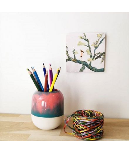 STUDIO ARHOJ design danois céramique copenhague pot à crayons pen holder amazonie vert