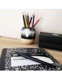 STUDIO ARHOJ design danois céramique copenhague pot à crayons pen holder noir blanc
