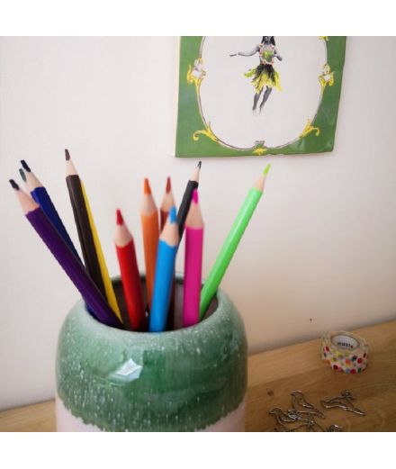 STUDIO ARHOJ design danois céramique copenhague pot à crayons pen holder vert