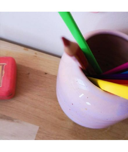 STUDIO ARHOJ design danois céramique copenhague pot à crayons pen holder rose