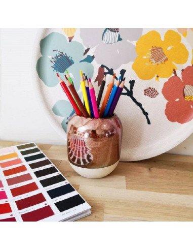 STUDIO ARHOJ design danois céramique copenhague pot à crayons pen holder cuivre