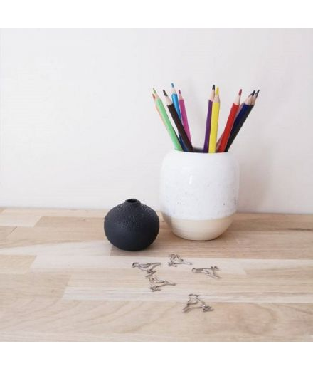 STUDIO ARHOJ design danois céramique copenhague pot à crayons pen holder blanc