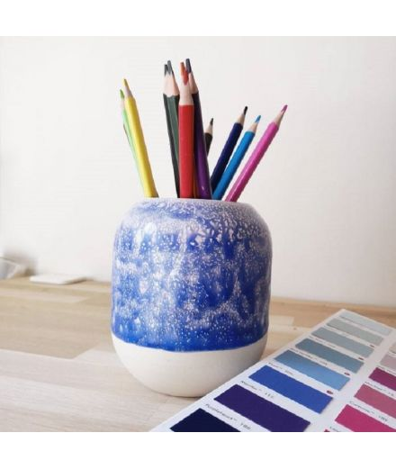 STUDIO ARHOJ design danois céramique copenhague pot à crayons pen holder sirène bleu