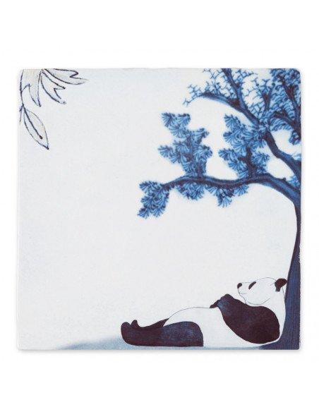 """STORYTILES Carreau de céramique """"Chilling Panda"""""""