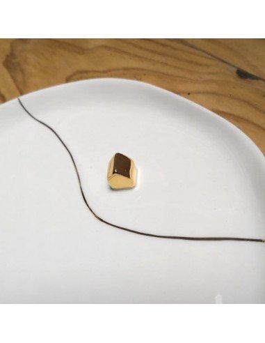 RÄDER DESIGN stories Assiette plate porcelaine blanche maison doré