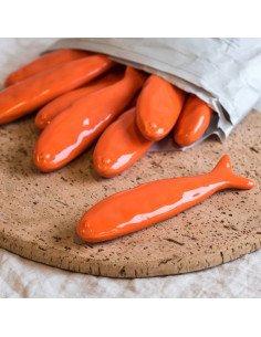 URBAN NATURE CULTURE poisson rouge céramique deco porte couteau