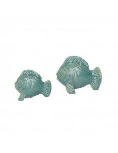 URBAN NATURE CULTURE sel et poivre poisson en céramique émaillée vert jade