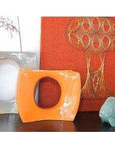 URBAN NATURE CULTURE Vase ikebana ceramique seventies orange