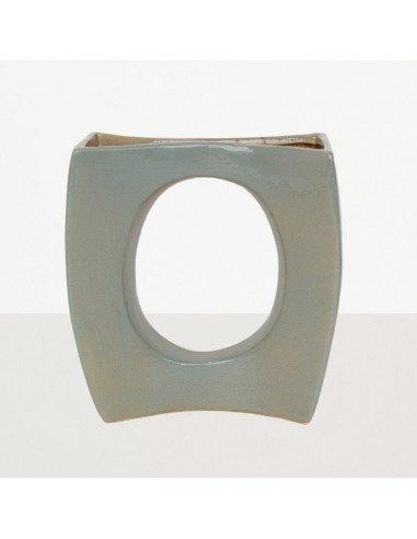 URBAN NATURE CULTURE Vase ikebana ceramique seventies vert de gris