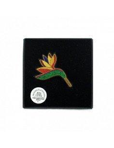 MACON & LESQUOY Broche brodée fleur de paradis nouveauté 2019