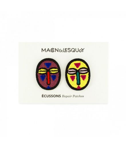MACON ET LESQUOY Écusson brodé thermocollant mini masques