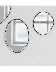 SERAX Miroir C ovale à accrocher metal laqué noir marie michielssen