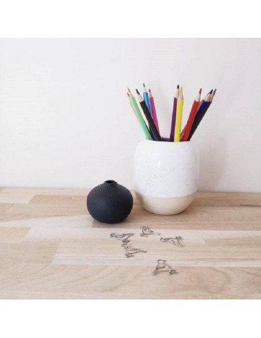 RÄDER DESIGN Mini vase perles noir