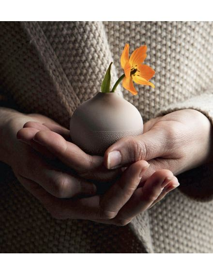 RÄDER DESIGN Mini vase perles grege beige