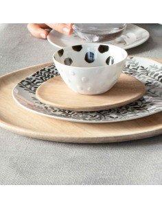 RÄDER DESIGN petite assiette en bois d'acacia diamètre 13 cm