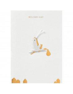 RÄDER DESIGN Carte naissance Cigogne porcelaine welcome baby