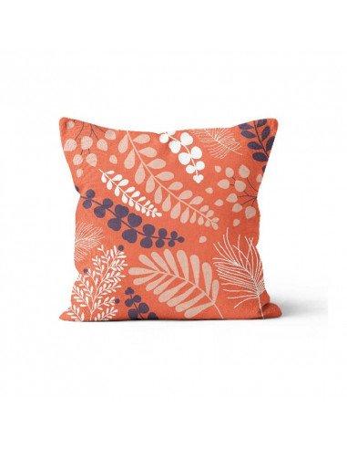 Atomic Soda Minilabo coussin 40x40 déhoussable et lavable blossom coloris orange corail