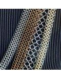 PASCALE LION Collier couleur or 120 bijou contemporain de createur collier cotte de maill