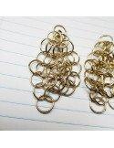 PASCALE LION B.O XL doré bijoux créateur paris cotte de maille metal