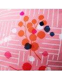 SEMILLE Coussin Mimosa 60x60 rose coton déhoussable lavable fabriqué en france rose