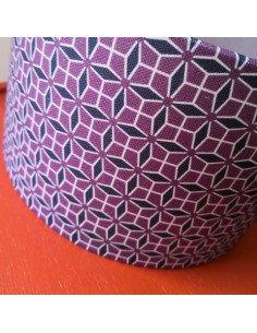 MADEMOISELLE DIMANCHE Abat-jour Coraline coloris aubergine diamètre 25 cm