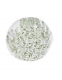 RÄDER DESIGN Assiette à dessert en porcelaine décors Feuillage vert