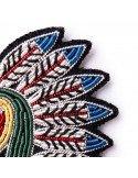 MACON ET LESQUOY paris bijoux Broche Brodée coiffe indienne tête indien d'amérique