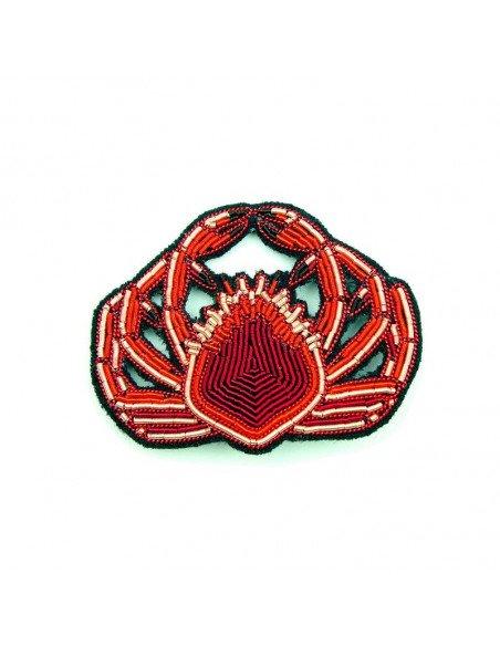 MACON ET LESQUOY Broche Brodée Araignée de mer