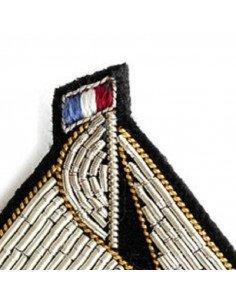 MACON ET LESQUOY Broche Brodée Voilier