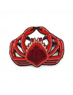MACON ET LESQUOY Très grande Broche Brodée Araignée de mer