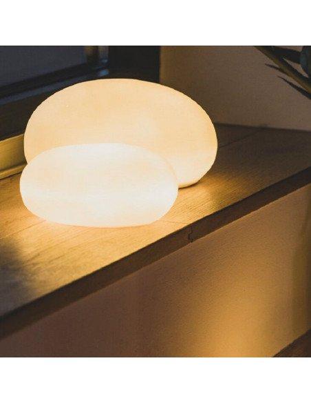 RÄDER DESIGN Lampe galet en porcelaine blanche PM