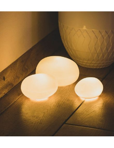 RÄDER DESIGN Mini lampe galet en porcelaine blanche