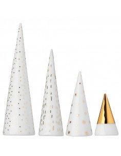 Rader décoration noel Mini forêt dorée porcelaine blanche