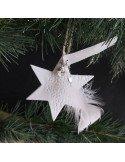 RÄDER DESIGN Décoration de Noël en porcelaine blanche étoile à suspendre