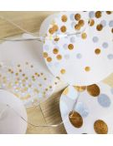 RÄDER decoration noel Guirlande lumineuse led sur minuterie blanche et or