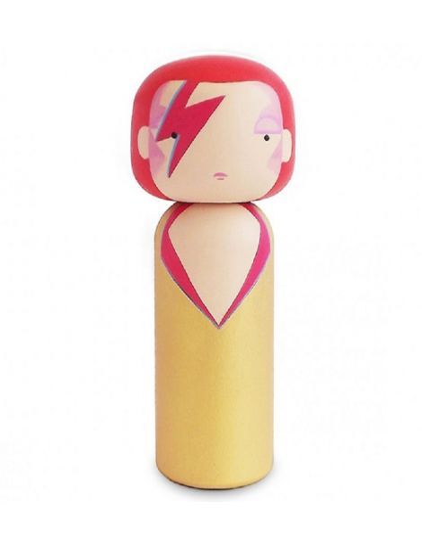 LUCIE KAAS Becky Kemp Sketch Inc. Figurine en bois Kokeishi David Bowie Ziggy