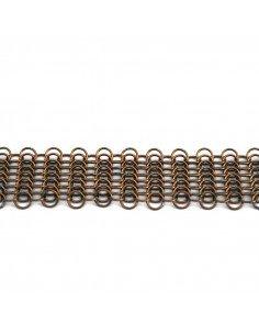 Pascale Lion Sautoir metal cuivré 140 design