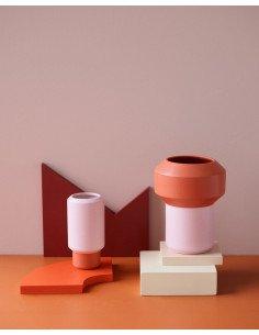 LUCIE KASS Design Christian Troels petit vase fumario orange rose