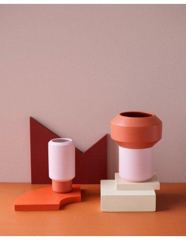 LUCIE KAAS Design Christian Troels petit vase fumario orange rose