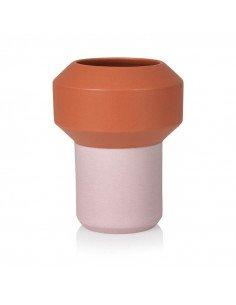 LUCIE KASS Design Christian Troels grand vase fumario orange rose