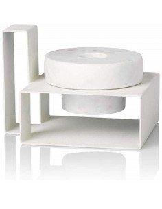 LUCIE KAAS Bougeoir Marco marbre blanc