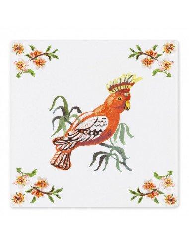 STORYTILES Carreau de céramique faince murale hollande amsterdam tropical bird nathalie lete