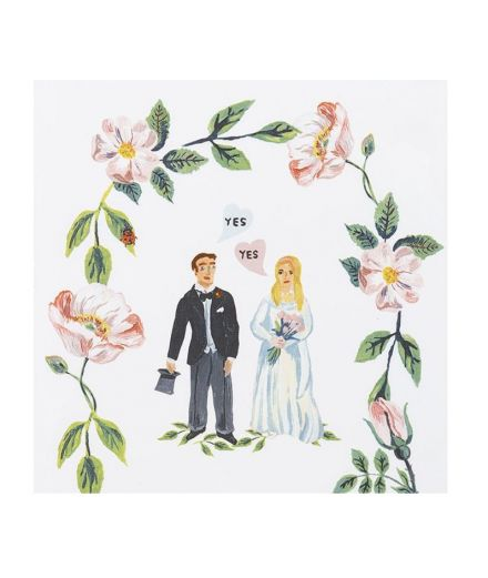 STORYTILES Carreau de céramique faince murale hollande amsterdam she said yes mariage mariés
