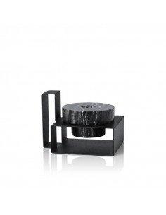 LUCIE KAAS Design Monique Consentino bougeoir marbre noir et métal Marco