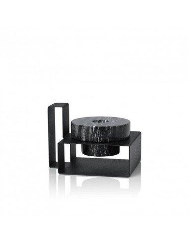 LUCIE KASS Design Monique Consentino bougeoir marbre noir et métal Marco