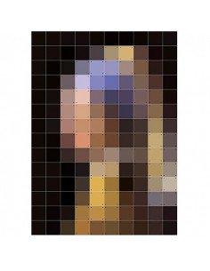 IXXI Pixel Décoration murale Pixel la jeune fille à la perle vermeer