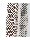 Bijoux original design metal cote de maille argent